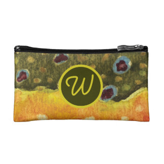 Trout Fly Fishing Makeup Bag