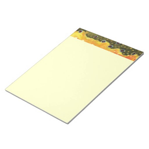 Trout Fly Fishing Memo Notepad