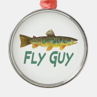 Trout Fly Fishing Metal Ornament