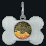 """Trout Fly Fishing Pet ID Tag<br><div class=""""desc"""">The beautiful colors and pattern of the skin of a brook trout, salvelinus fontinalis fontinalis. For any fisherman or ichthyologist familiar with this gorgeous wild fish, there is no need for a shape to identify it. This trout art is from an original watercolor painting by Doug Shultz (Mr. Trout Whiskers)....</div>"""