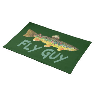 Trout Fly Fishing Cloth Placemat