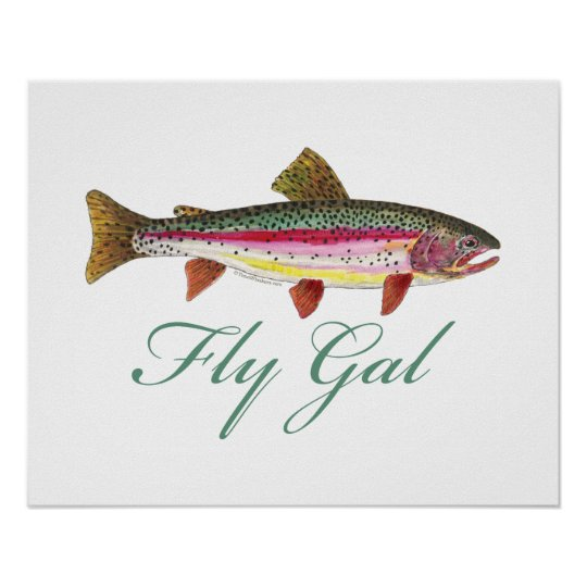 Trout Fly Fishing Poster