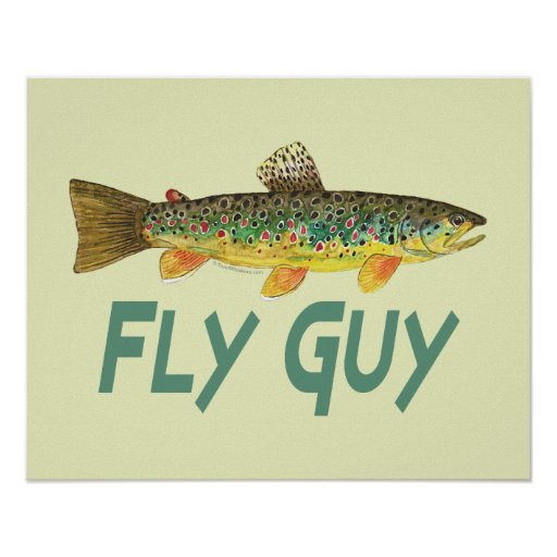 Trout fly fishing poster zazzle for Fly fishing posters