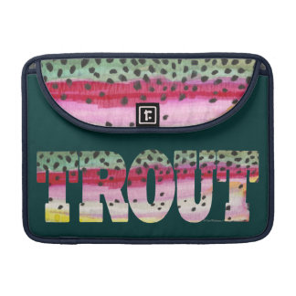 Trout Fly Fishing Sleeve For MacBooks