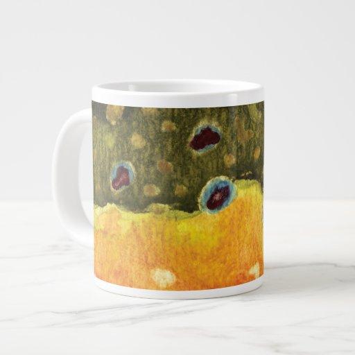 Trout Fly Fishing Jumbo Mug