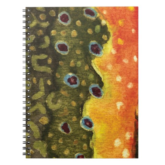 Trout Fly Fishing Spiral Notebook