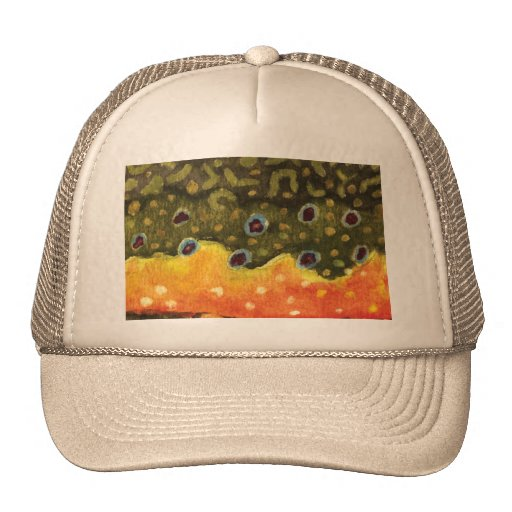 Trout fly fishing trucker hat zazzle for Fly fishing hat