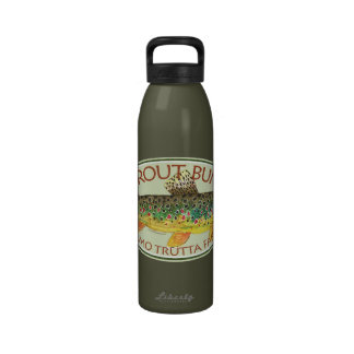 Trout Fly Fishing Drinking Bottles