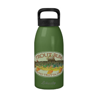 Trout Fly Fishing Reusable Water Bottle