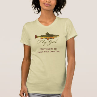 Trout Fly Fishing Woman Tees