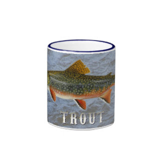 Trout Freshwater Fish, With Water Background Image Ringer Coffee Mug