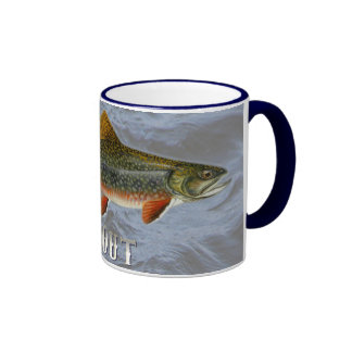 Trout Freshwater Fish, With Water Background Image Ringer Mug