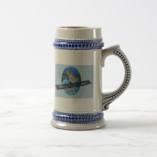 Trout Grilled To Perfection 18 Oz Beer Stein