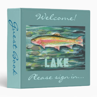 Trout guest book binder