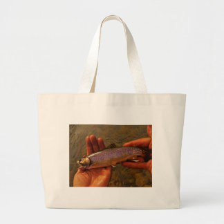 Trout in Hands Bag