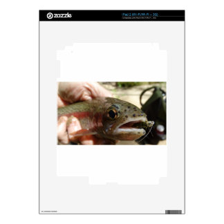 Trout in Hands Decal For iPad 2