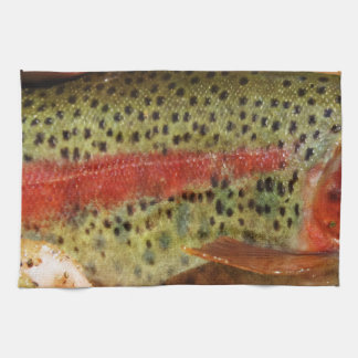 Trout in Hands Hand Towel