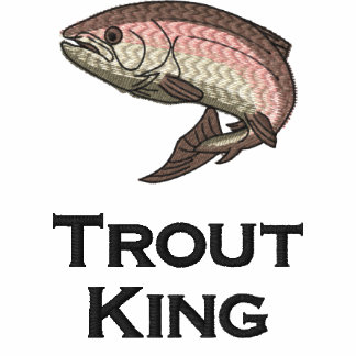 Trout King Embroidered Polo Shirt