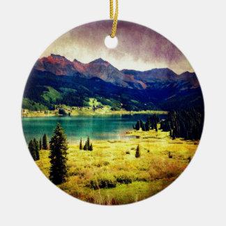 Trout Lake Ceramic Ornament