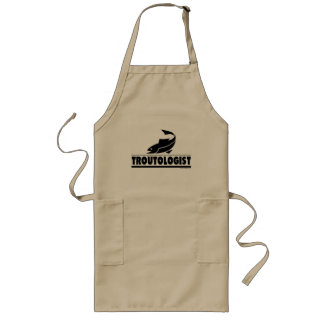 Trout -ologist - Humorous Trout Fish Long Apron