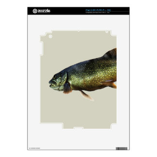 Trout on Beige Decals For iPad 2