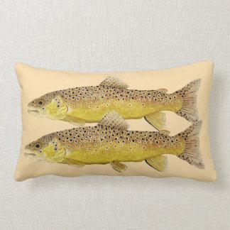 Trout Pillow- Brown & Brook Trout Lumbar Pillow
