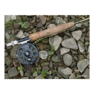 Trout Rod and Reel Poster