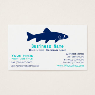 Trout Silhouette Business Card