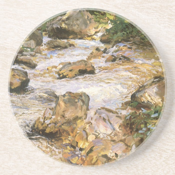 Trout Stream in the Tyrol by John Sargent Coaster