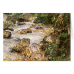 Trout Stream in the Tyrol by John Sargent Greeting Card