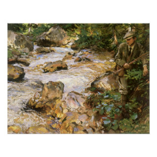 Trout Stream in the Tyrol by John Sargent Poster