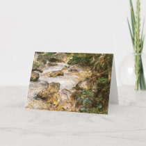 Trout Stream in the Tyrol by John Singer Sargent Card