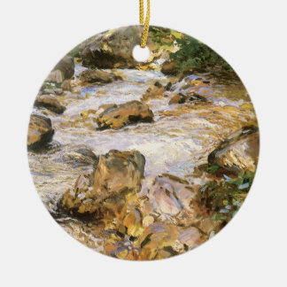 Trout Stream in the Tyrol by John Singer Sargent Ceramic Ornament