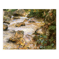 Trout Stream in the Tyrol by John Singer Sargent Postcard