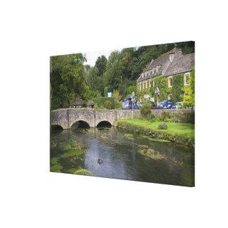 Trout stream in the village of Bibury, Canvas Print