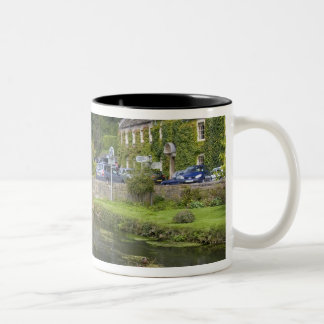 Trout stream in the village of Bibury, Two-Tone Coffee Mug