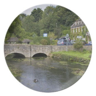 Trout stream in the village of Bibury, Plates