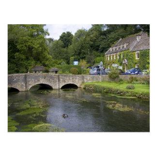 Trout stream in the village of Bibury, Postcard