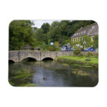 Trout stream in the village of Bibury, Rectangular Photo Magnet