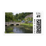 Trout stream in the village of Bibury, Stamps