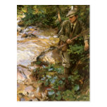 Trout Stream in Tyrol by Sargent, Victorian Art Post Card