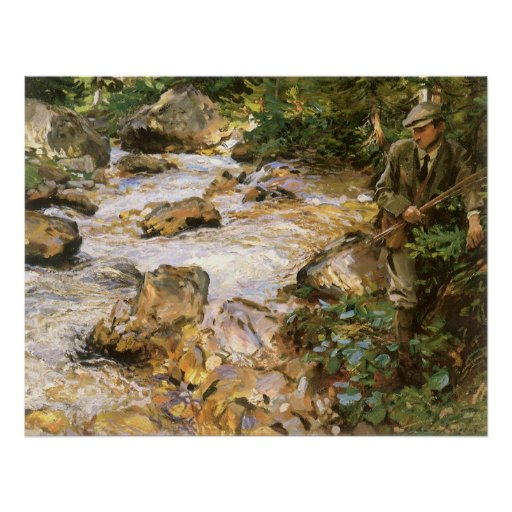 Trout Stream in Tyrol by Sargent, Victorian Art Print