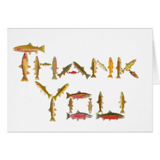 Trout Thank you Card- 24 species of trout & salmon Card