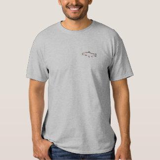 Trout Tracker Fishing T-Shirt - Burnt Orange