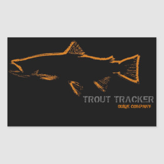 Trout Tracker Guide Company Stickers