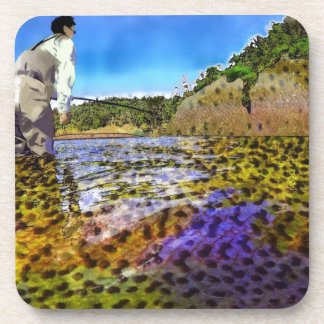 Trout, trout, everywhere trout... beverage coaster