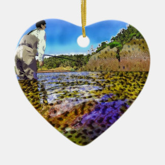 Trout, trout, everywhere trout... ceramic ornament