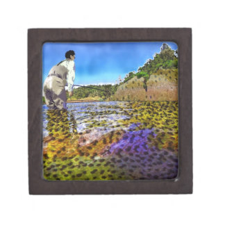 Trout, trout, everywhere trout... keepsake box