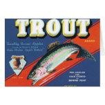 Trout Vintage Apples Label Greeting Card