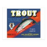 Trout Vintage Apples Label Post Card